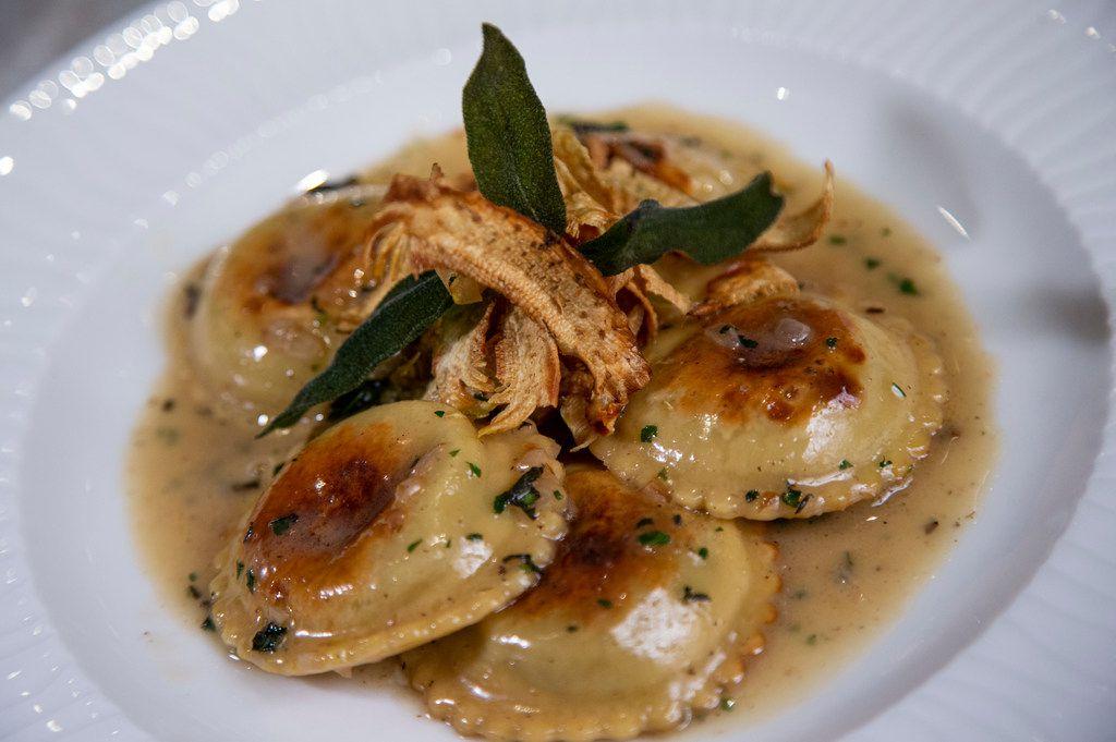 Artichoke ravioli