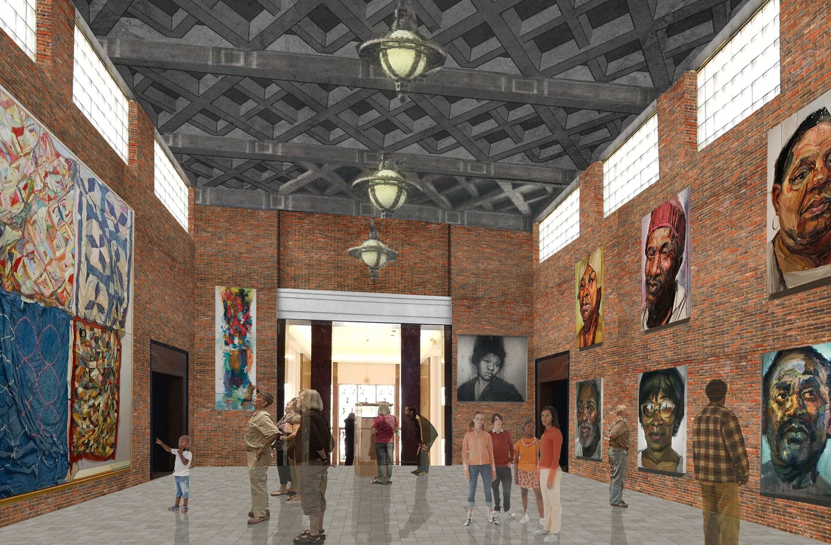 A rendering by Cunningham Architects shows what the main gallery could look like for a proposed Museum of Texas Art at Fair Park.