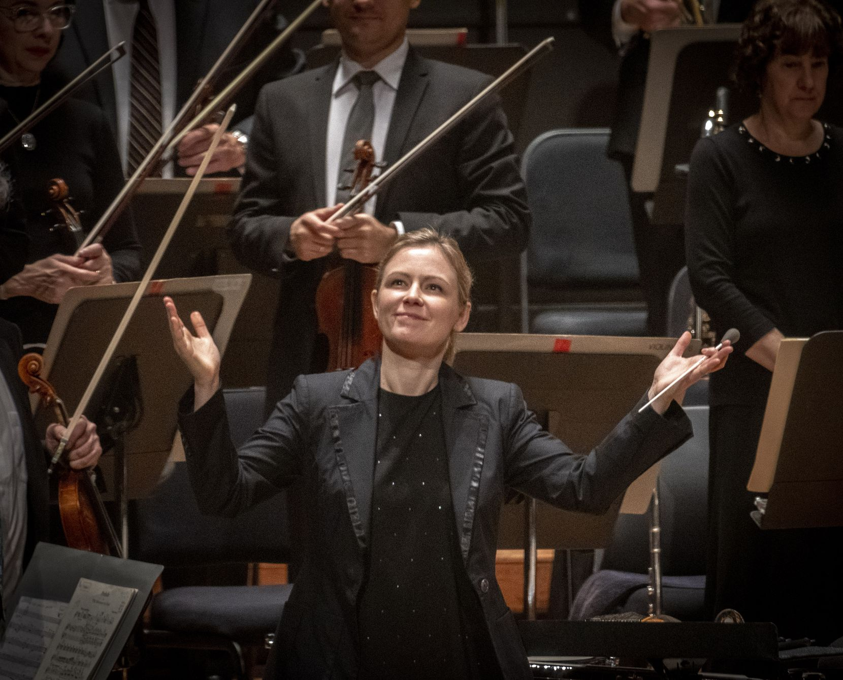 Gemma New, the Dallas Symphony Orchestra's principal guest conductor, returns for three programs in the 2020-21 season.