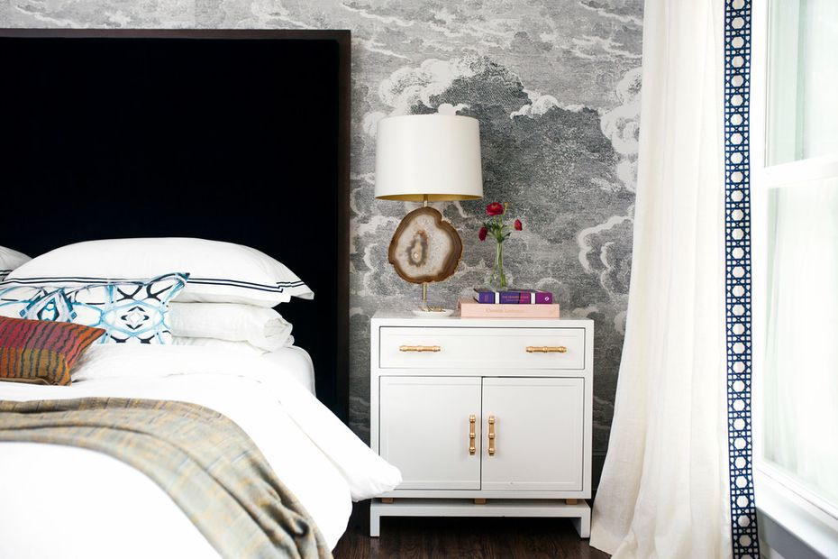Abbe Fenimore says you can transform your bedroom into a luxury hotel-like suite with i exquisite trims and details, unique lighting and soft linens.