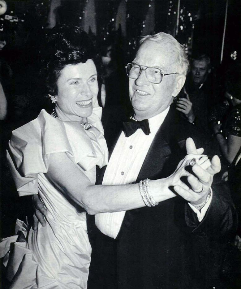 Rita and Bill Clements danced in 1987 at the second of four balls the couple attended  in honor of Clements' second inauguration as Texas governor.