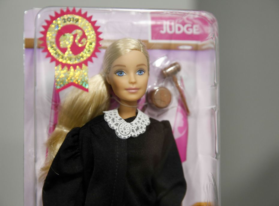 A Judge Barbie photographed in the chambers of Justice Lana Myers in Dallas Wednesday, November 13, 2019. Myers is one of 13 justices of the 5th District Court of Appeals in Dallas