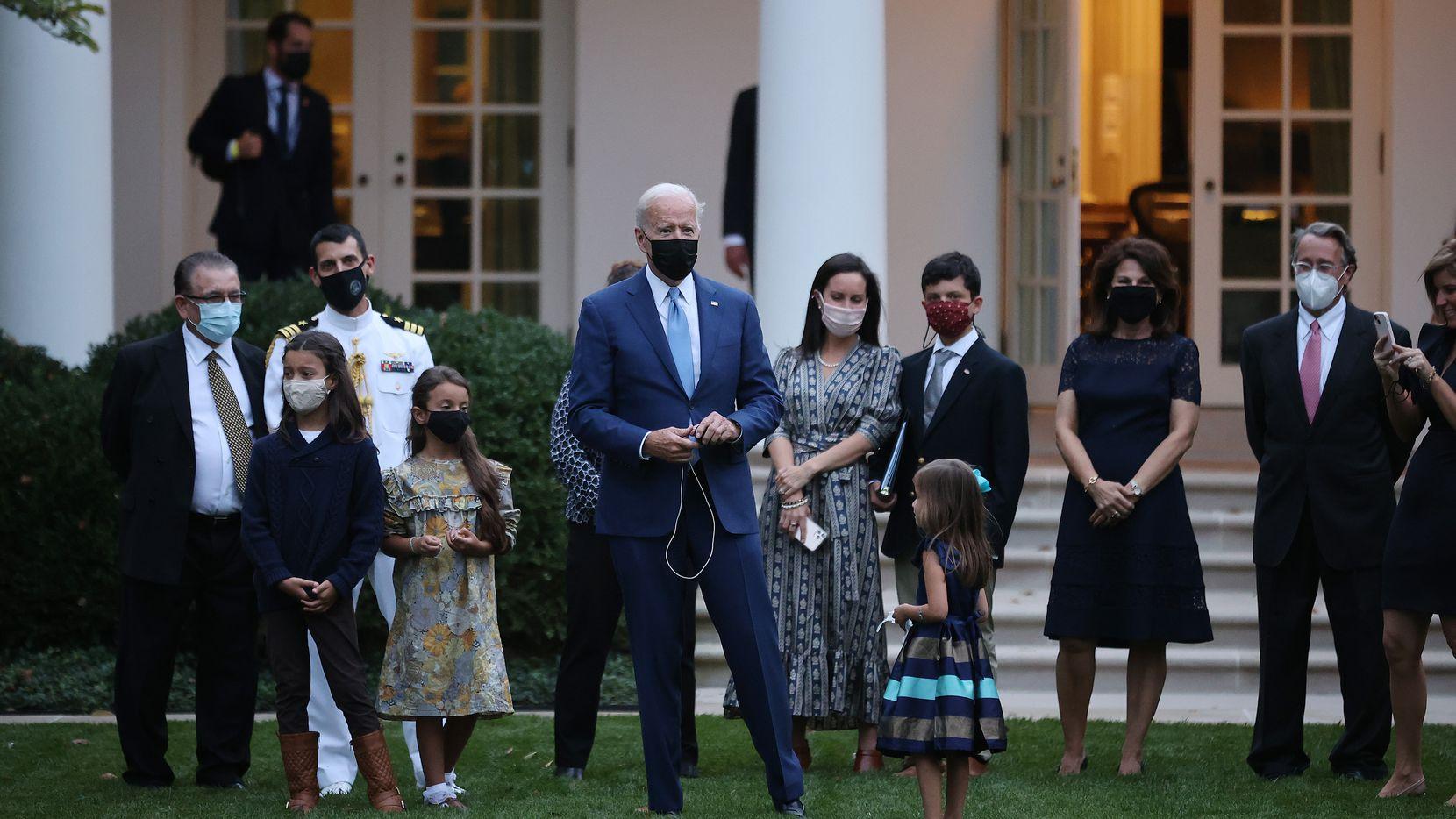 El President Joe Biden en un evento familiar en la Casa Blanca, el 8 de octubre de 2021.