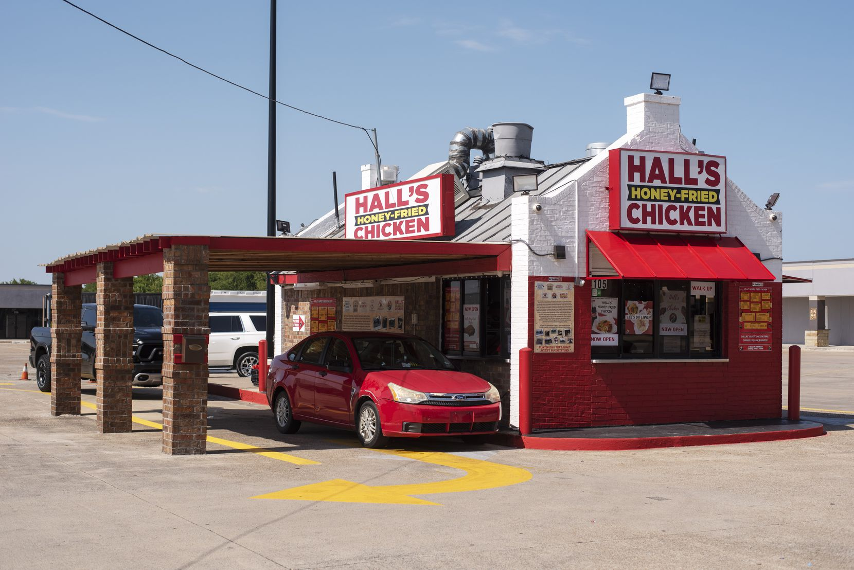The reopened Hall's Honey Fried Chicken on West Camp Wisdom Road in Dallas