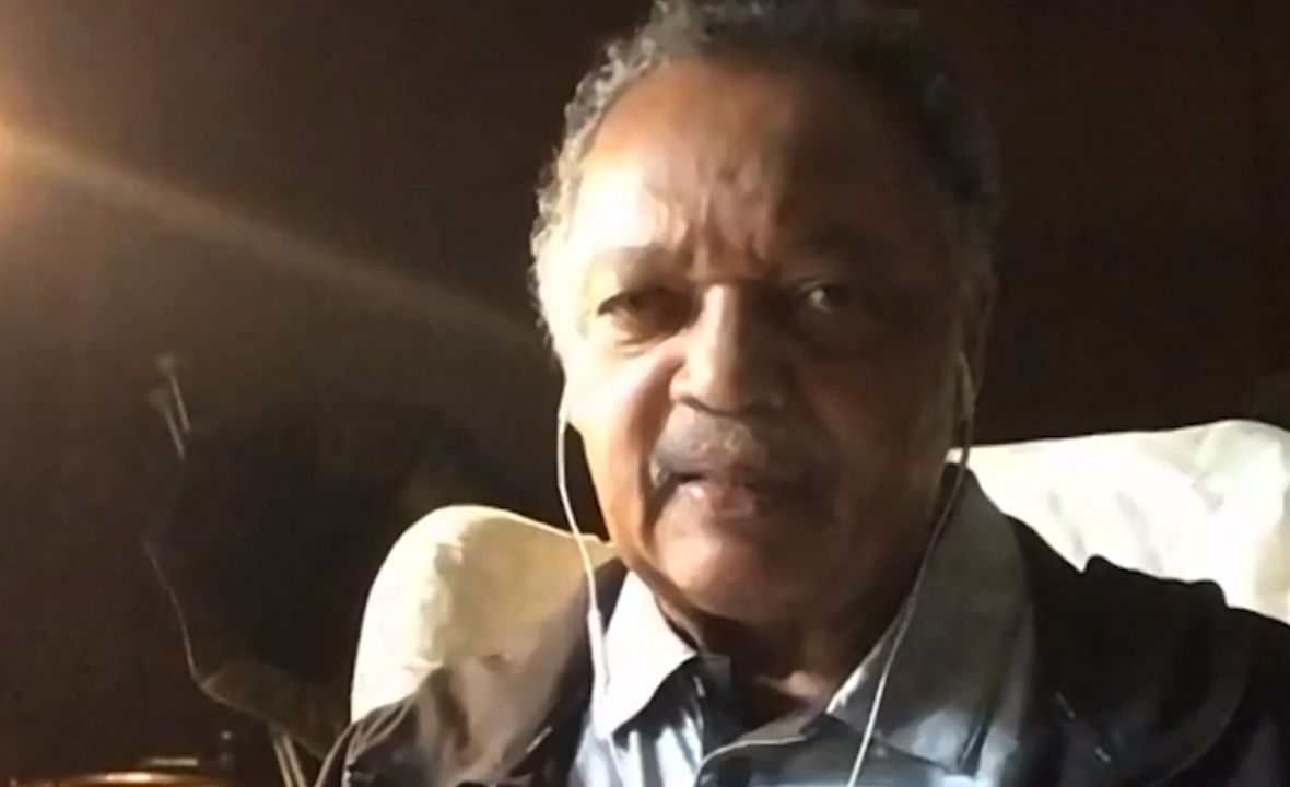 Rev. Jesse Jackson joined local civil rights and other faith leaders in a virtual press conference on May 21, 20020. They announced a new class-action lawsuit seeking an immediate end to the worsening conditions inside the Dallas County jail. (Screenshot from Zoom)