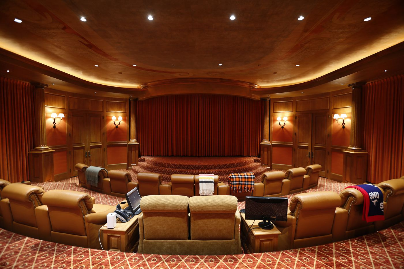 The Mesa Vista Theater in The Lodge of businessman T. Boone Pickens Mesa Vista Ranch.