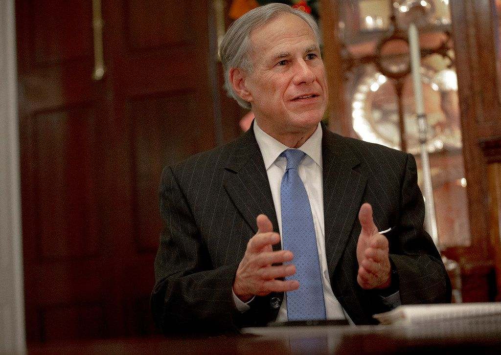 In this Dec. 6, 2018 file photo, Texas Gov. Greg Abbott speaks during an interview at the Texas Governor's Mansion, in Austin, Texas.. (Nick Wagner/Austin American-Statesman)