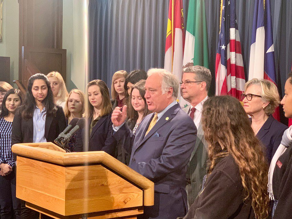 Sen. Kirk Watson thanks sexual assault survivors for speaking out on the issue and creating momentum for a bipartisan effort to address the issue in the Legislature.