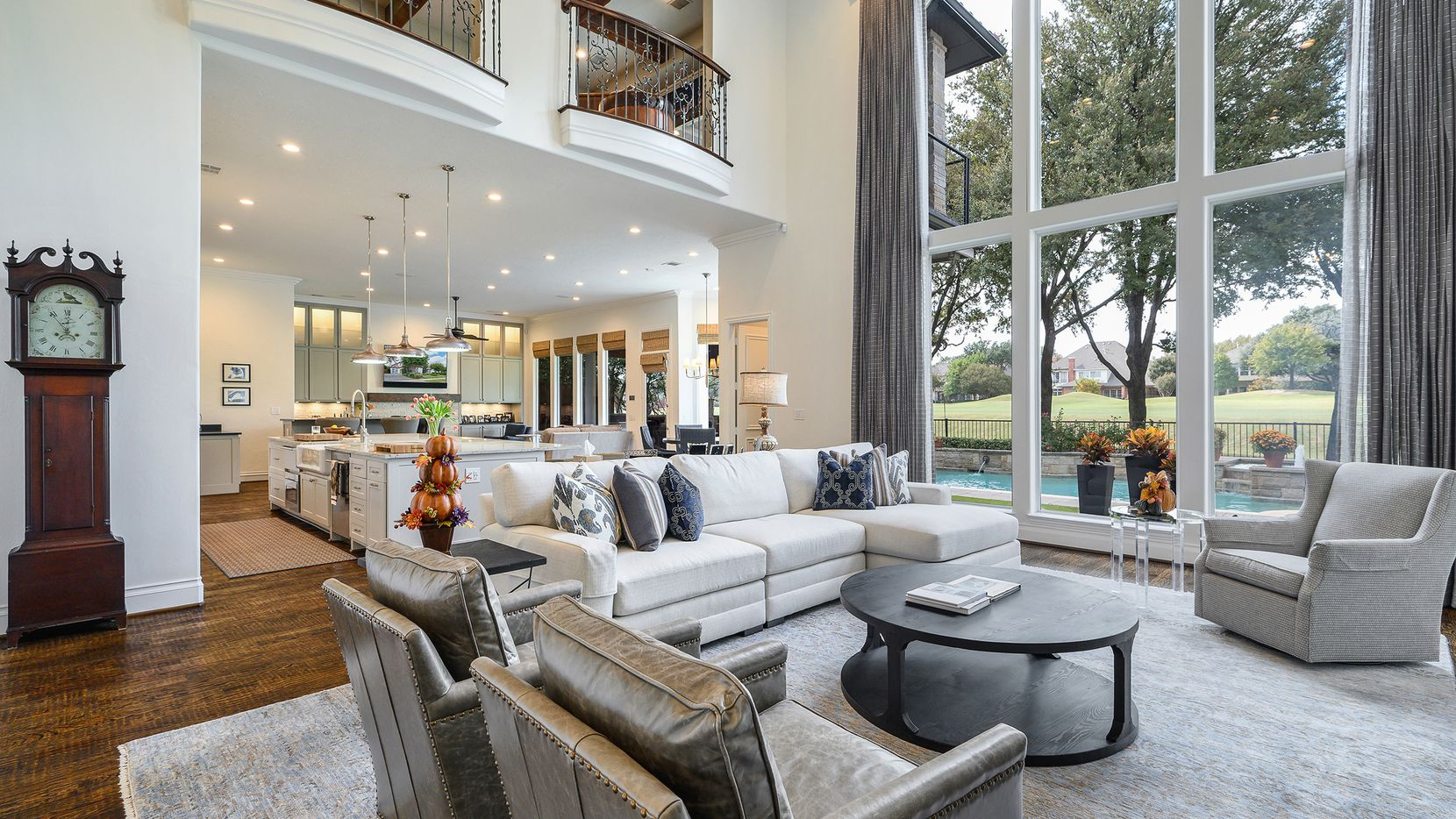 Offered at $1,598,000, the estate at 3013 Shelton Way in Pebble Brook at Willow Bend showcases golf course views and a backyard made for entertaining.