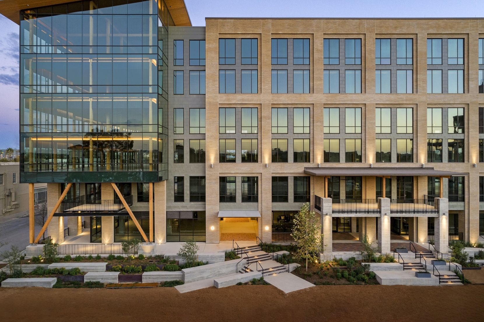 "A new six-story office in San Antonio designed by Dallas architect BOKA Powell is described as ""Texas' first mass timber office building."""