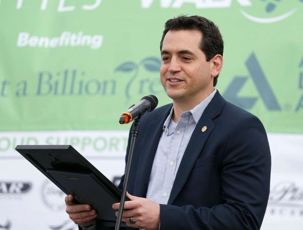 State Rep. Matt Rinaldi of District 115 spoke during the Walk 2016 hosted by BAPS Charities at Ranchview High School in Irving, Texas Saturday May 14, 2016.