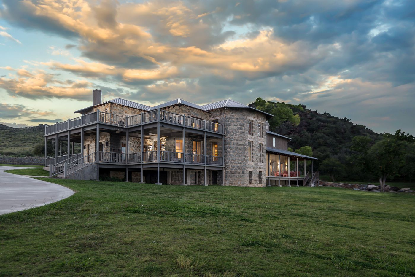 The KC7 Ranch is in far West Texas in the Davis Mountains and includes a 10,00-square-foot lodge.