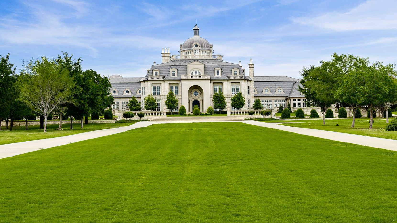 The 48,000-square-foot Champ d'Or mansion is in Denton County.