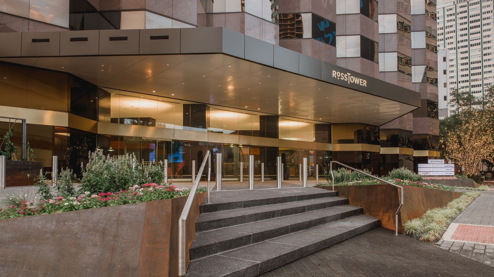 Ross Tower's owners just completed a renovation of the 1980s high-rise.