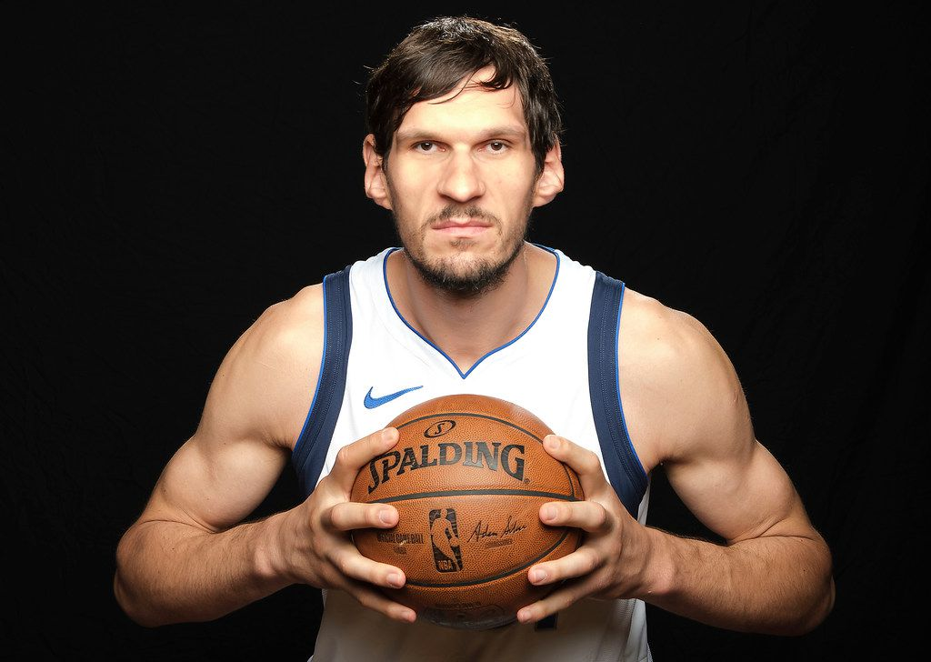 Dallas Mavericks center Boban Marjanovic photographed during media day activities at American Airlines Center on Monday, Sept. 30, 2019, in Dallas. (Smiley N. Pool/The Dallas Morning News)