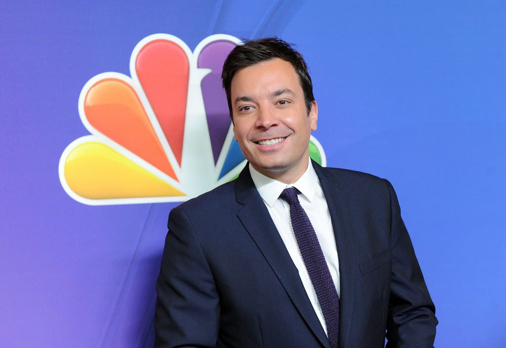 """In this May 12, 2014 file photo, """"The Tonight Show"""" host Jimmy Fallon attends the NBC Network 2014 Upfront presentation at the Javits Center in New York. NBC said Monday that it will produce episodes of """"Tonight"""" and other programs specifically for Snapchat under a multi-year deal."""