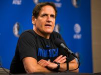 Dallas Mavericks owner Mark Cuban speaks to reporters after the Dallas Mavericks beat the Denver Nuggets 113-97 on Wednesday, March 11, 2020 at American Airlines Center in Dallas. During the game, the NBA suspended all games due to the spread of Corona Virus. (Ashley Landis/The Dallas Morning News)