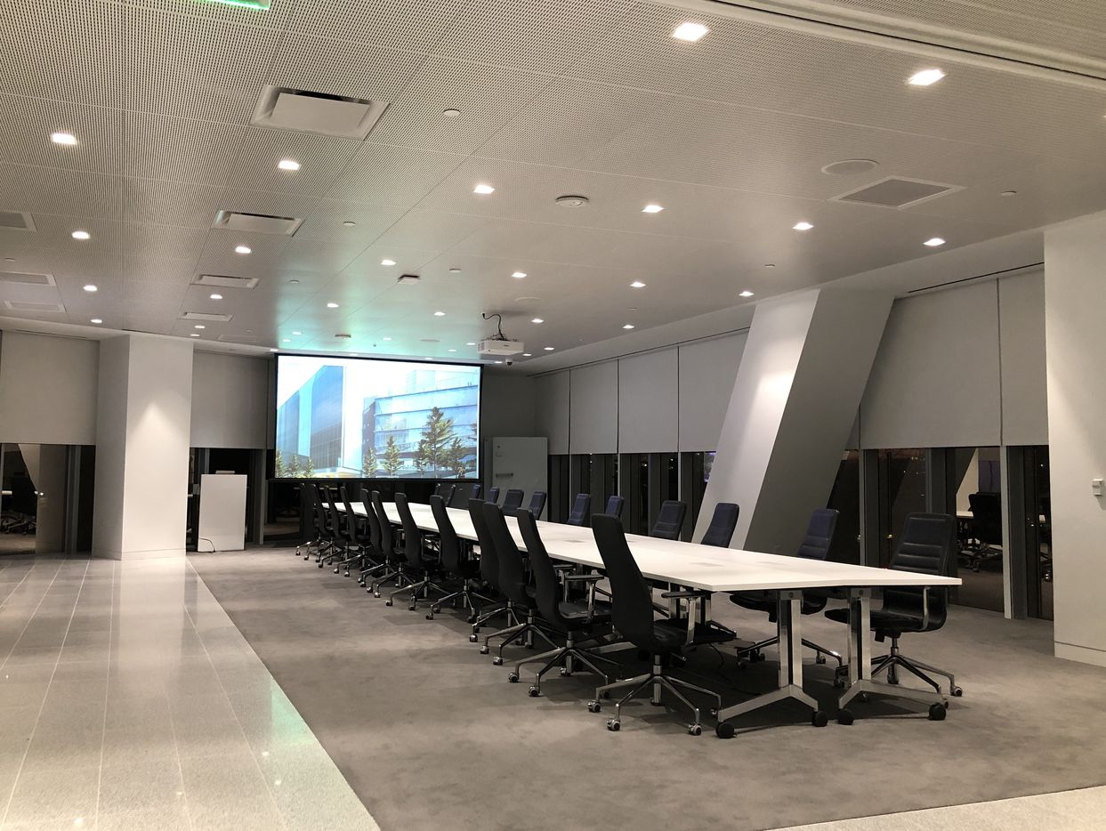 A second floor conference room has been added to the tower.