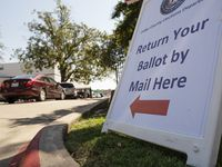 Dallas County's mail-in ballot drop-off location is at 1520 Round Table Drive in Dallas.