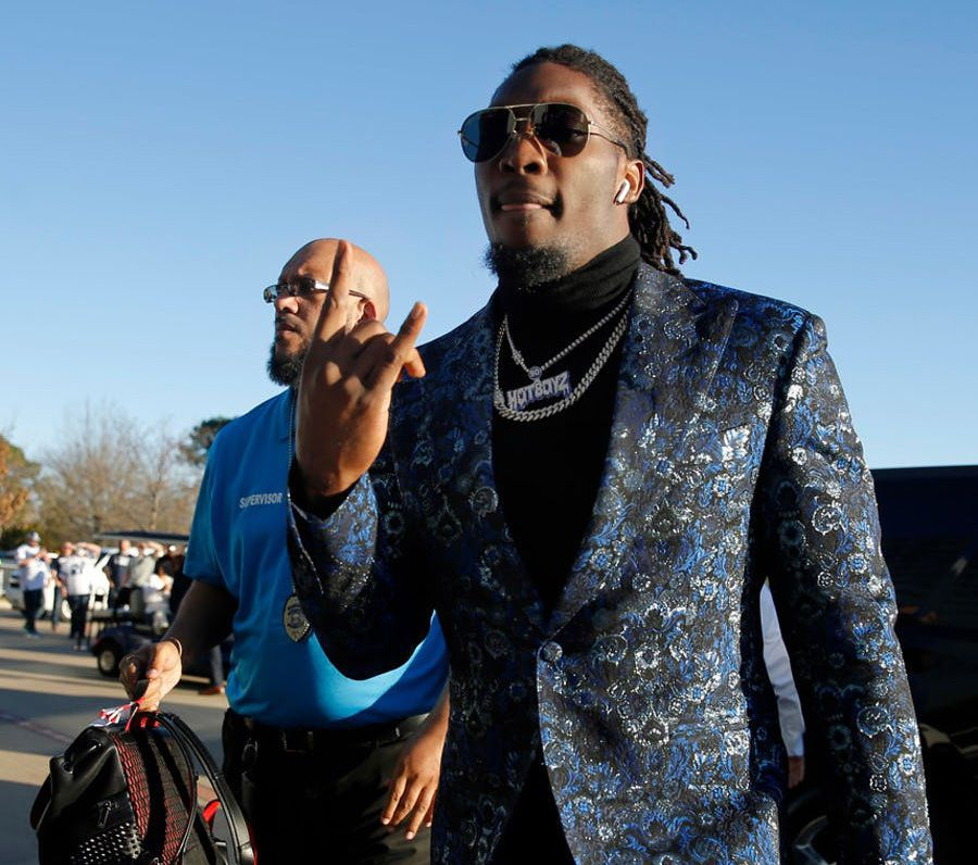 Cowboys defensive end DeMarcus Lawrence arrives at AT&T Stadium in Arlington for an NFC wild-card game against the Seattle Seahawks on Saturday, Jan. 5, 2019. (Tom Fox/The Dallas Morning News)