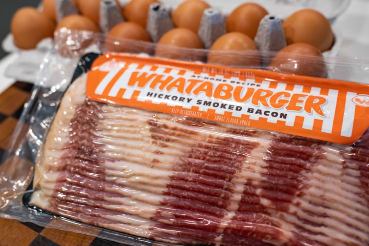 Whataburger Hickory Smoked Bacon is the restaurant chain's newest retail addition available at H-E-B and Central Market stores.