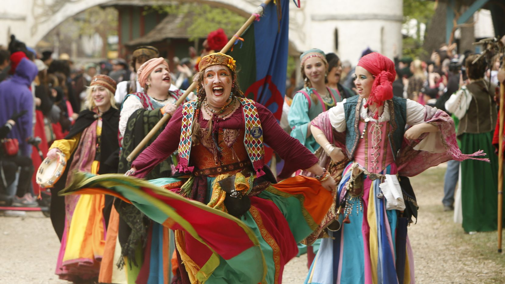 Scarborough Renaissance Festival includes a parade through the festival grounds each day at 1 p.m., featuring live music and many of the village performers.