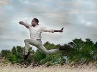 "Bruce Wood Dance company member Matthew Roberts in choreographer Adam W. McKinney's ""Promise Me You'll Sing My Song."""