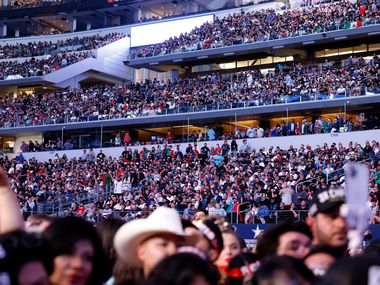 Over 70,000 people, the largest crowd to see a sporting event during the COVID-19 pandemic, filled AT&T stadium to see Mexican boxer Canelo Alvarez defeat British boxer Billy Joe Saunders in their super middleweight title fight at AT&T Stadium in Arlington, Saturday, May 8, 2021.