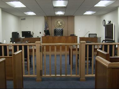 A federal immigration courtroom in Arlington. The immigration court backlog has nearly doubled in the Trump years, and attorneys worry that due process will suffer for both detained immigrants and those free but fighting deportation.