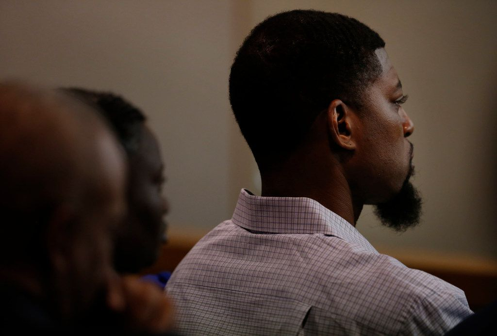 Odell Edwards listens to testimony Wednesday about Roy Oliver, the former police officer who killed his son last year. (Rose Baca/Staff Photographer)