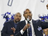 Former Dallas safety Darren Woodson is pictured during his Ring of Honor induction ceremony during the Seattle Seahawks vs. the Dallas Cowboys NFL football game at AT&T Stadium in Arlington on Sunday, November 1, 2015. (Louis DeLuca/The Dallas Morning News)