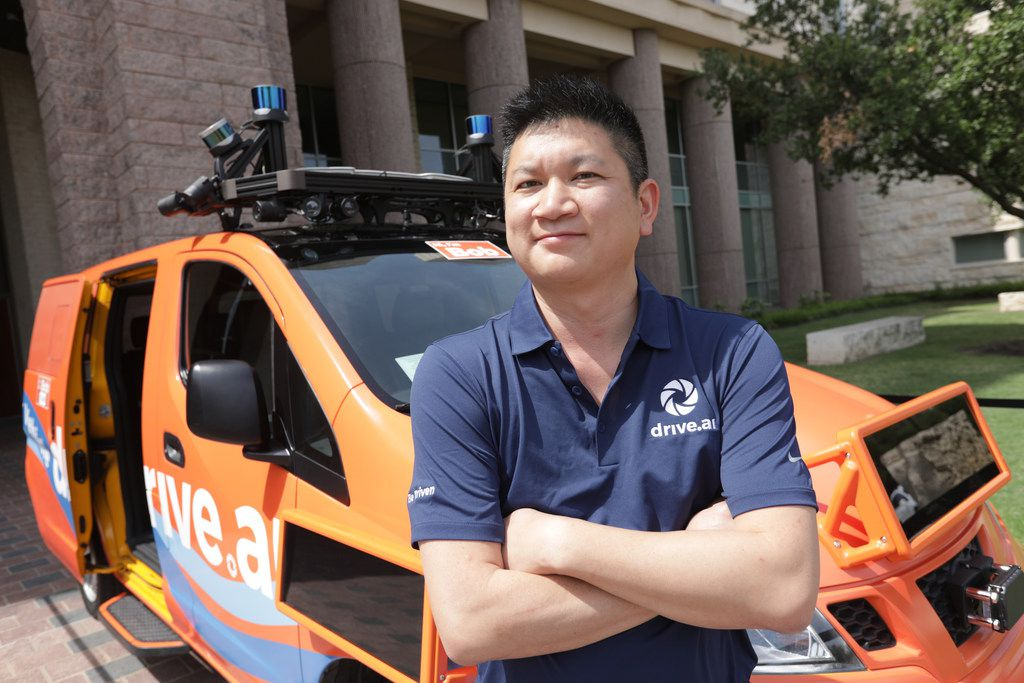"""Conway Chen of Drive.ai said the company looked to Texas because of its regulatory environment, its population growth and its receptive cities. He said the pilot will be another """"touch point"""" that helps the public become more comfortable with the new kind of transportation ."""