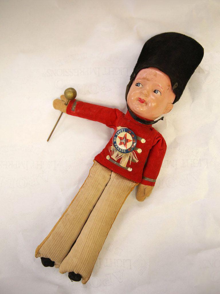 A souvenir drum major doll from the Texas Centennial Exposition in 1936.