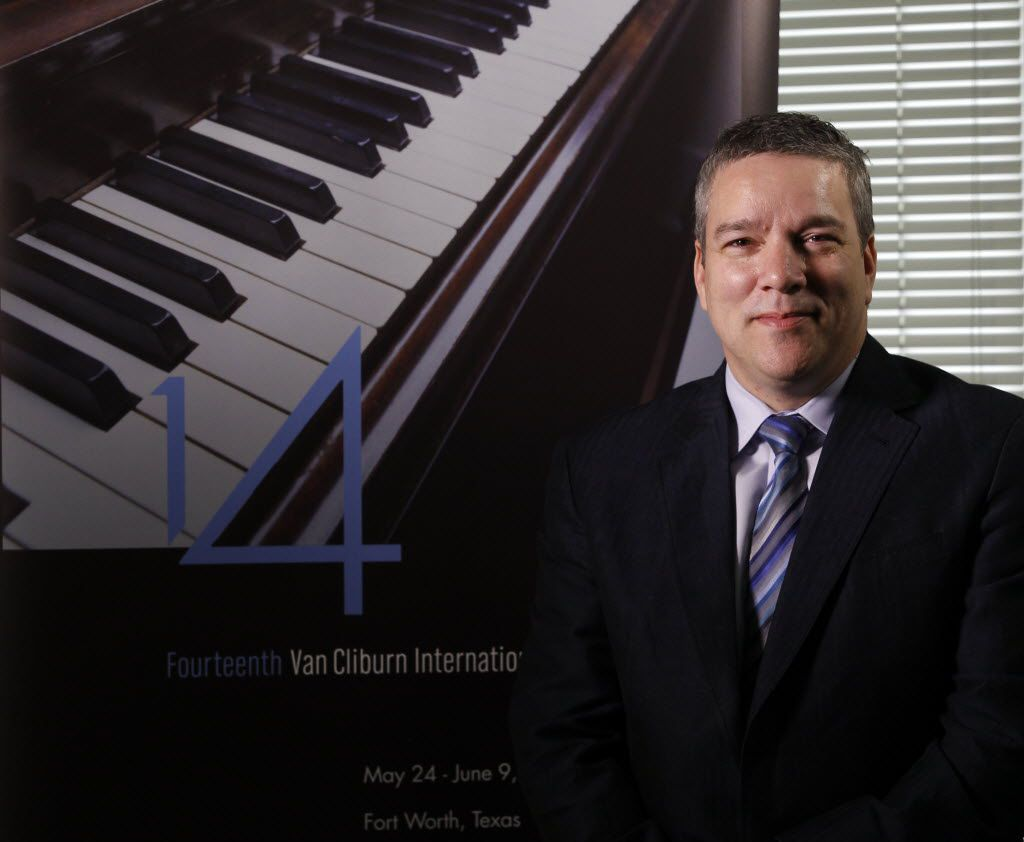 Jacques Marquis, president/CEO of Cliburn Foundation in his office in Fort Worth