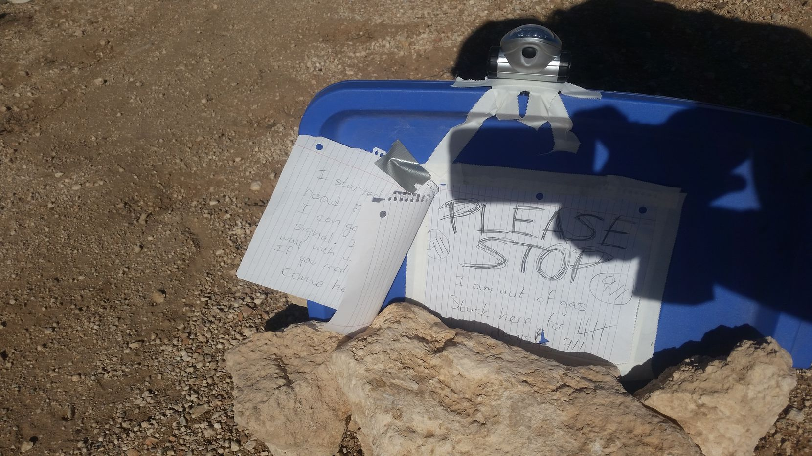 VanHecke left rescuers a note explaining where she was. (Arizona Department of Public Safety)