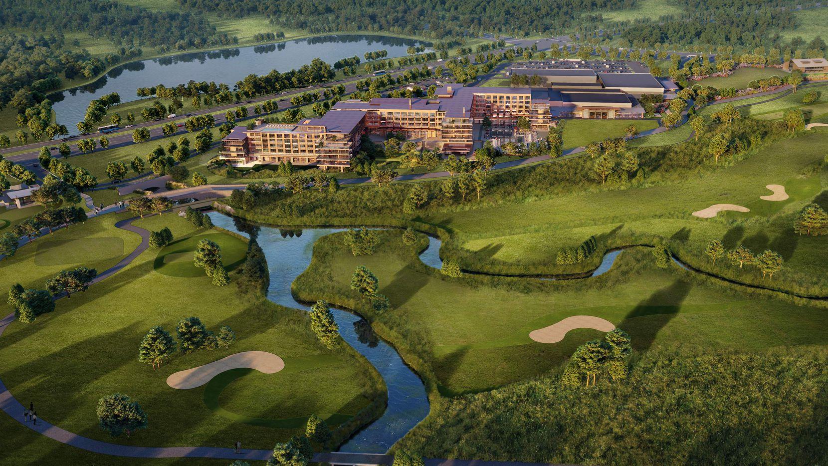 The 501-room Omni PGA Frisco Resort will open in 2023.
