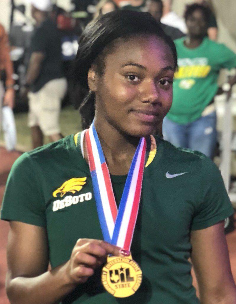 DeSoto track athlete Ja'Era Griffin