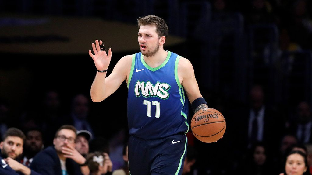 Dallas Mavericks' Luka Doncic in action against the Los Angeles Lakers during an NBA basketball game Sunday, Dec. 1, 2019 in Los Angeles. (AP Photo/Marcio Jose Sanchez)