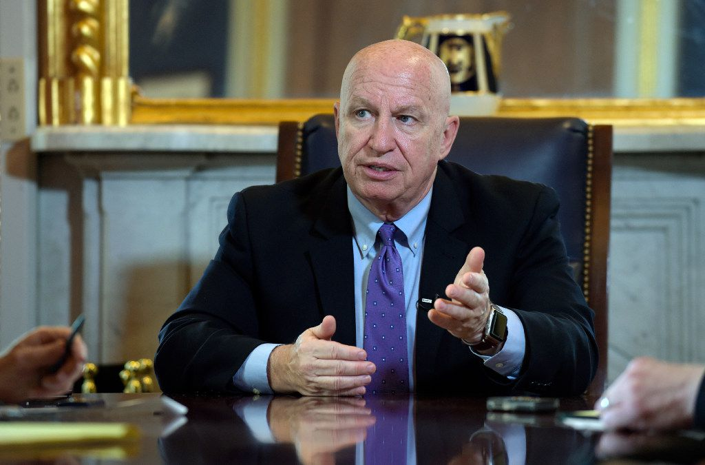 "The House Ways and Means Committee chairman, Rep. Kevin Brady, R-The Woodlands, continues to tout the need to end ""the 'Made in America' export tax."" (AP Photo/Susan Walsh)"