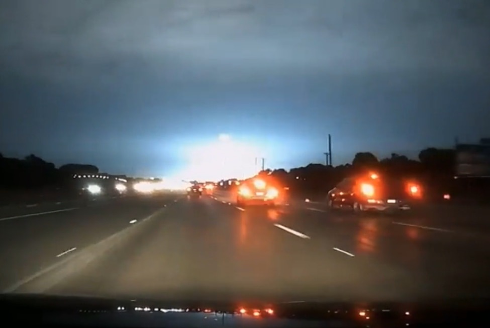 A flash of blue light lit up the sky over portions of Dallas County on June 4.