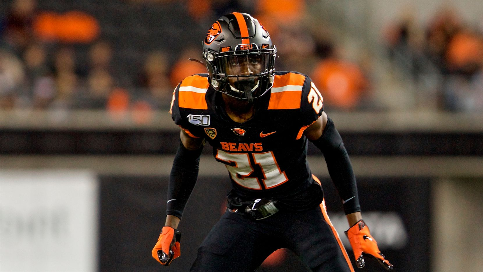 Oregon State Beavers defensive back Nahshon Wright during an NCAA football game on Friday, Aug. 30, 2019 in Corvallis, Ore.