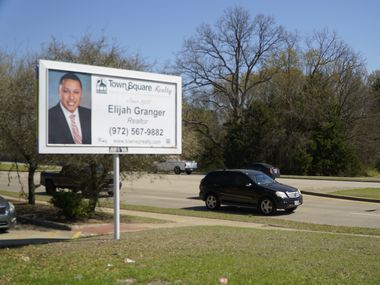 Elijah Granger sign on Belt Line and Houston School Rd. on Tuesday, March 23, 2021 in Lancaster, Texas.
