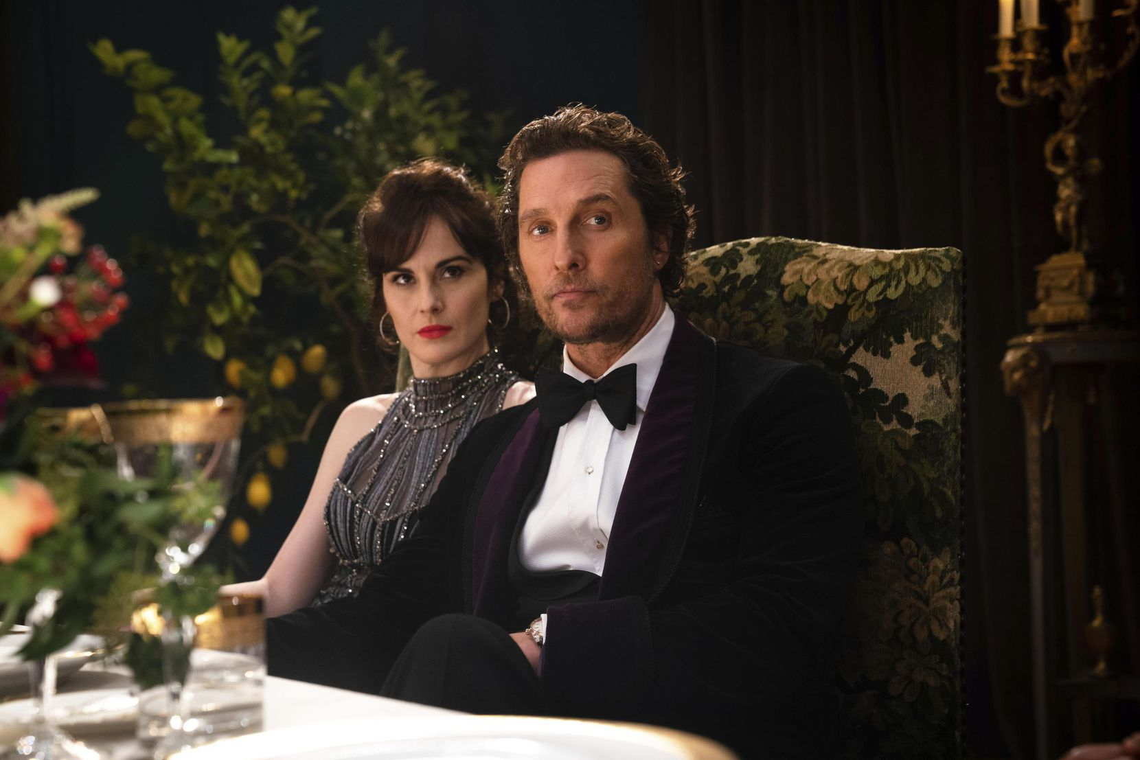 "Matthew McConaughey and Michelle Dockery appear in a scene from ""The Gentlemen."""