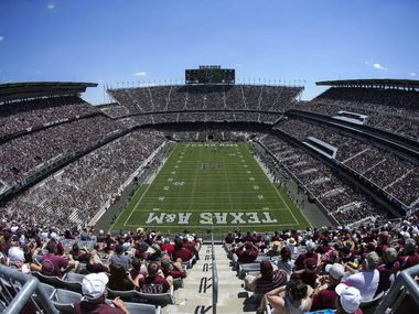 Sep 19, 2015; College Station, TX, USA; General view of Kyle Field during the game between the Texas A&M Aggies  and the Nevada Wolf Pack on Sept. 19, 2015. (Troy Taormina-USA TODAY Sports)
