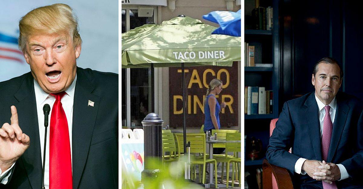 Taco Diner, popular restaurante de comida mexicana, es parte del grupo MCrowd Restaurant Group, que fue demandado por cinco empleados en el 2014.