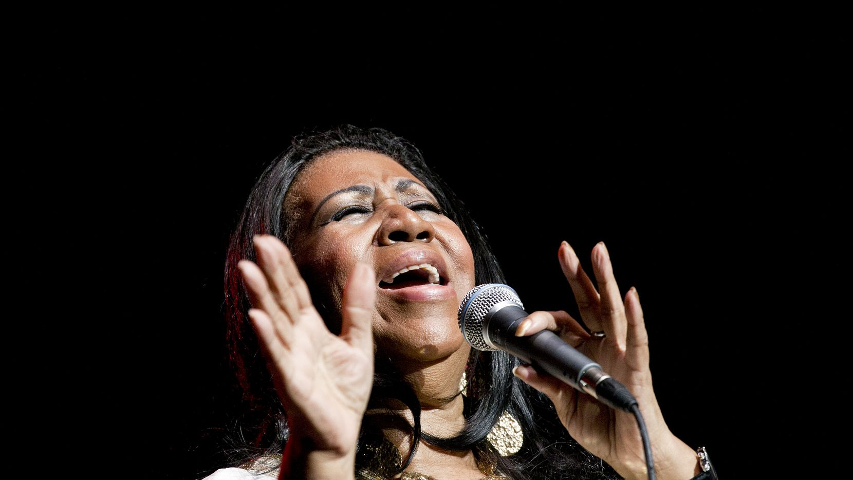Aretha Franklin performs at the Jones Beach Theater in Wantagh, N.Y., July 27, 2011.