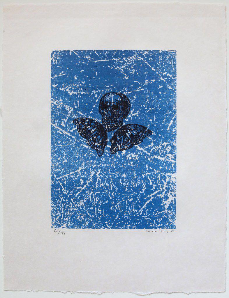 MAX ERNST La princesse de Lamballe, from Aux petits agneaux, 1971 Screenprint in colors on japon paper 7 7/8 x 5 1/2 inches Edition 36/101