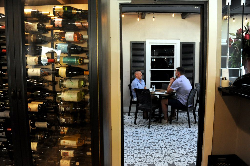 Guests can choose wine from the wine cellar at Pink Magnolia.
