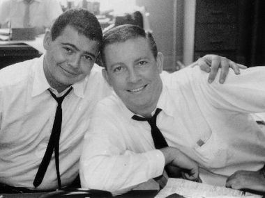Gary Cartwright (left) and Bud Shrake in 1961. Cartwright and Shrake covered the Cowboys for The Dallas Morning News in 1963.