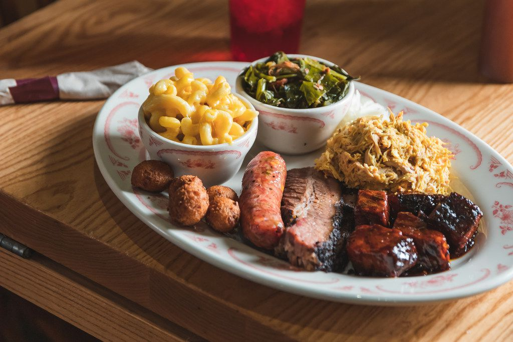 Midwood Smokehouse in Charlotte is known for Texas-style brisket, St. Louis ribs and Carolina barbecue.